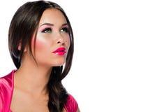 Portret van mooie jonge Kaukasische vrouw Royalty-vrije Stock Fotografie