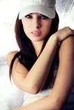 Portret van mooie jonge vrouw Royalty-vrije Stock Afbeeldingen