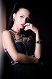 Portret van mooie jonge vrouw Royalty-vrije Stock Afbeelding