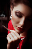 Portret van mooie jonge vrouw Royalty-vrije Stock Fotografie