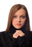 Portret van mooie jonge vrouw Royalty-vrije Stock Foto