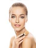 Portret van mooie jonge vrouw met samenstelling Royalty-vrije Stock Fotografie