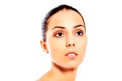 Portret van mooie kuuroordvrouw Stock Afbeelding