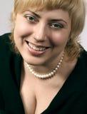 Portret van mooie lachende vrouw Royalty-vrije Stock Foto
