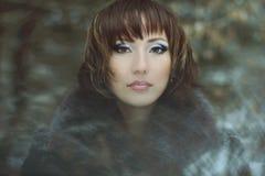 Portret van mooie meisjes mooie make-up Royalty-vrije Stock Foto's