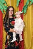 Portret van mooie moeder en baby Stock Foto's