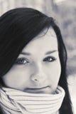 Portret van mooie tiener Stock Afbeelding
