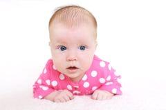 Portret van mooie 2 van het babymaanden meisje Stock Afbeeldingen