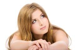 Portret van mooie vrouw Stock Afbeelding