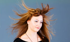Portret van mooie vrouw Stock Foto's