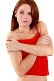 Portret van mooie vrouw. Stock Foto's