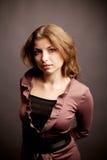 Portret van mooie vrouw Royalty-vrije Stock Foto's