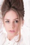 Portret van mooie vrouw. Stock Afbeelding
