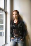 Portret van mooie vrouw. Royalty-vrije Stock Foto's