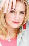 Portret van mooie vrouw royalty-vrije stock afbeeldingen