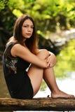 Portret van Mooie Vrouw Stock Fotografie