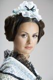Portret van mooie vrouw Royalty-vrije Stock Foto