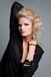 Portret van mooie vrouw met juwelen Royalty-vrije Stock Fotografie