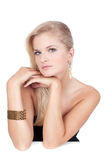 Portret van mooie vrouw met juwelen Royalty-vrije Stock Afbeelding