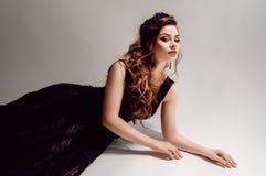 Portret van mooie vrouw met make-up royalty-vrije stock fotografie
