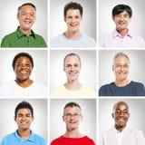 Portret van Multiethnics-Mensen op een rij stock foto's