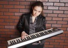 Portret van musicus Stock Foto