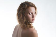Portret van naakte vrouw Royalty-vrije Stock Foto's