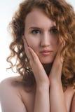 Portret van naakte vrouw Stock Fotografie