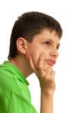 Portret van nadenkende jongen Royalty-vrije Stock Afbeeldingen