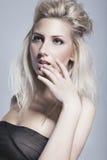Portret van natuurlijk mooie vrouw Royalty-vrije Stock Afbeelding