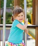 Portret van op speelplaatsgebied Stock Fotografie