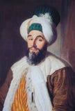 Portret van Ottomaneambtenaar - schilderen gecreeerd in 1742 Stock Foto's