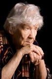 Portret van oude vrouw royalty-vrije stock afbeelding