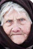 Portret van oude vrouw Stock Afbeelding