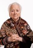 Portret van oude vrouw Royalty-vrije Stock Afbeeldingen