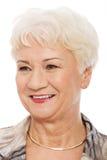 Portret van oudere vrouw. royalty-vrije stock afbeelding