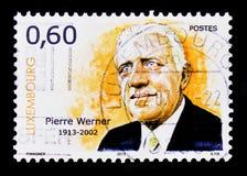 Portret van P Werner, verjaardag 100 van geboorte, Beroemdheden serie, circa 2013 Stock Foto's