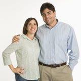 Portret van paar. Stock Foto's