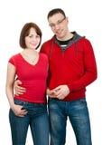Portret van paar in liefde Stock Afbeelding