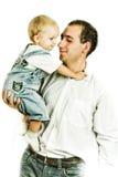 Portret van papa en zoon Stock Afbeeldingen