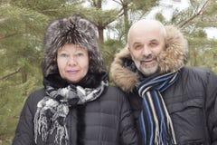 Portret van paren op middelbare leeftijd royalty-vrije stock foto