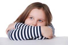Portret van peinzend meisje Royalty-vrije Stock Afbeeldingen
