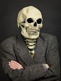 Portret van persoon in skeletmasker Stock Afbeelding