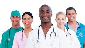 Portret van positief medisch team Stock Afbeelding
