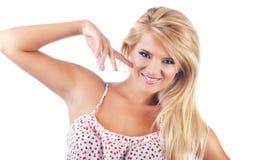 Portret van prachtige blonde vrouwen Stock Afbeeldingen