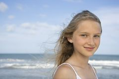 Portret van pre-tienermeisje stock foto