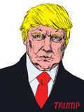 Portret van President van Amerika Donald Trump Stock Afbeeldingen