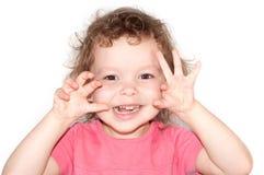 Portret van pret mooi meisje stock foto