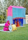 Portret van Rajasthani marionettenprestaties Royalty-vrije Stock Fotografie