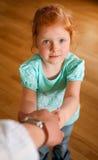 Portret van redhead meisje Royalty-vrije Stock Afbeelding